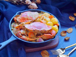 泰式椰浆土豆咖喱蟹,鲜美