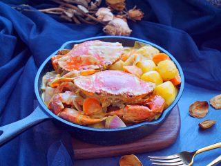 泰式椰浆土豆咖喱蟹,鲜香