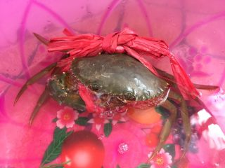泰式椰浆土豆咖喱蟹,青蟹要选活生生的才好