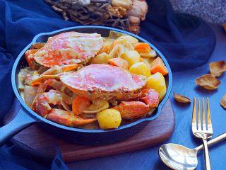 泰式椰浆土豆咖喱蟹,好看又好吃