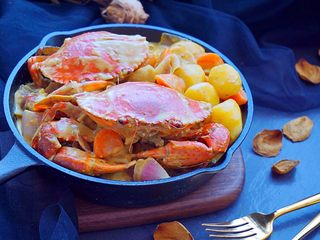 泰式椰浆土豆咖喱蟹,下饭