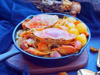 泰式椰浆土豆咖喱蟹,味道不错