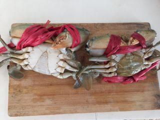 泰式椰浆土豆咖喱蟹,雄蟹底部呈三角形,母蟹呈圆形