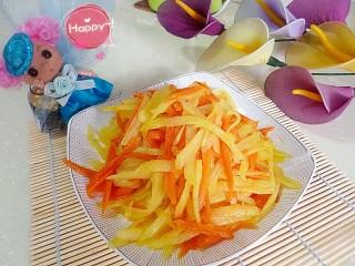 土豆丝炒胡萝卜丝