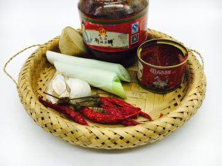 宫保鸡丁,调料:葱,姜,蒜,干辣椒,郫县豆瓣酱,番茄酱。
