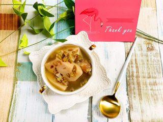 绿豆莲藕筒骨汤,一碗温馨的炖汤给在外打拼一天的老公