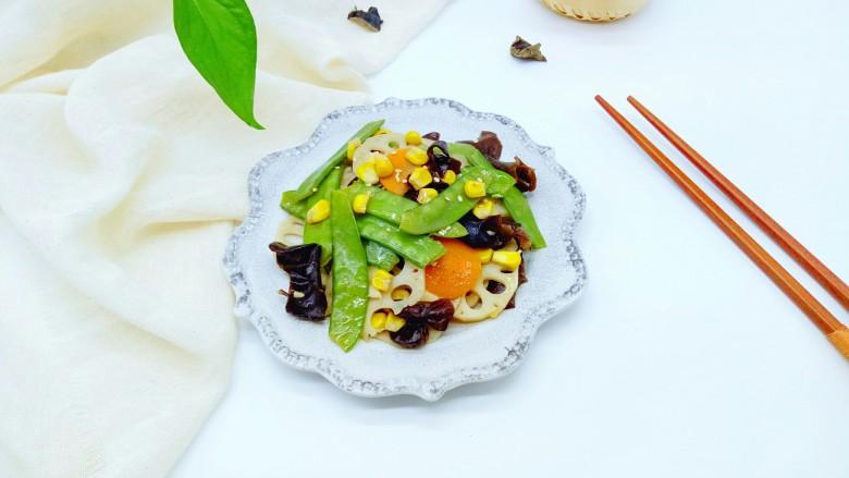 #时令蔬菜#荷塘月色小炒