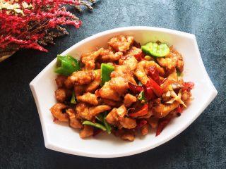 豆瓣鸡 中餐厅版,起锅前将青椒放入,装盘即可,美味豆瓣鸡好了