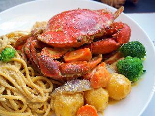 咖喱蟹意面,再看