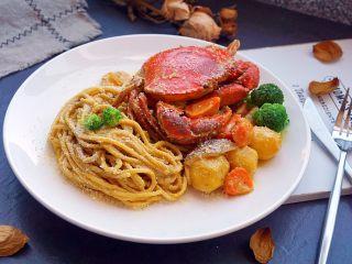 咖喱蟹意面,好吃