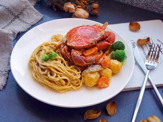 咖喱蟹意面,完成