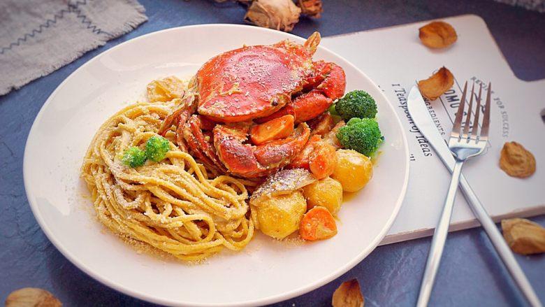 咖喱蟹意面