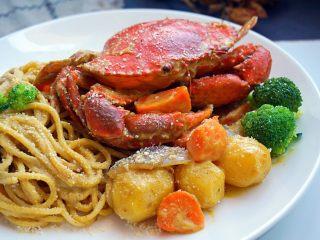 咖喱蟹意面,不错吧