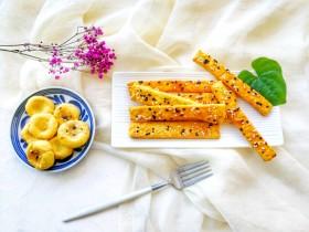 兩種造型的紅薯芝麻餅干,酥脆香甜有營養~