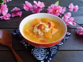 南瓜枸杞小米粥