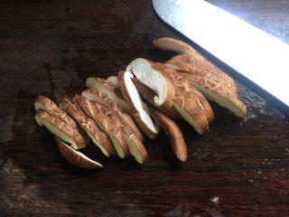 香甜米饭+中华烩饭,香菇切片备用