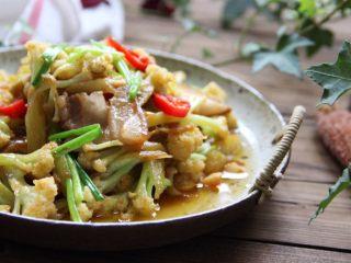干锅花菜,成品