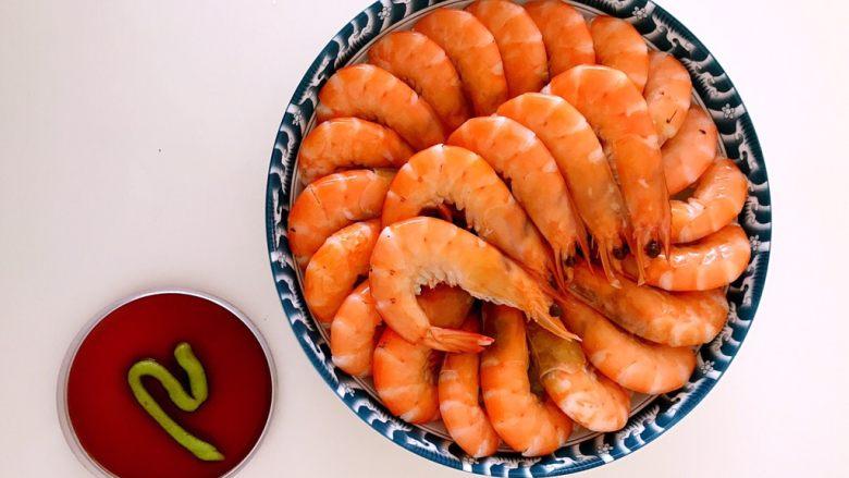 品尝海虾原始的味道  白灼海青虾