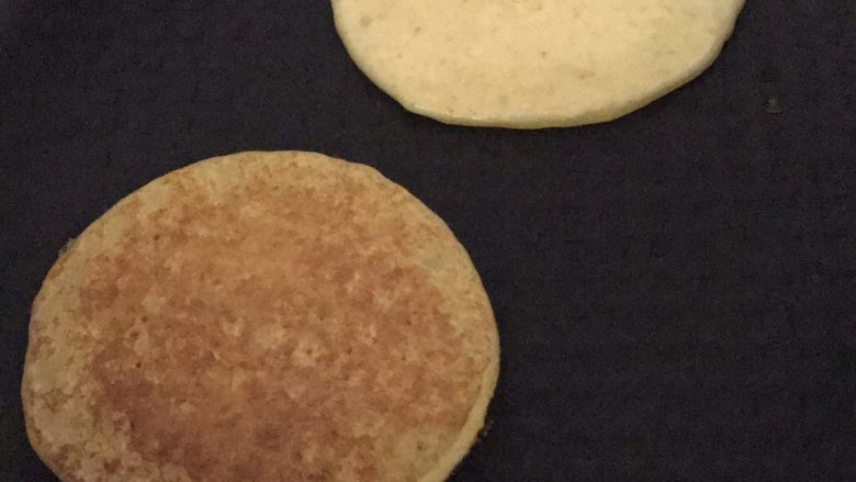 南瓜全麦松饼,无油煎饼