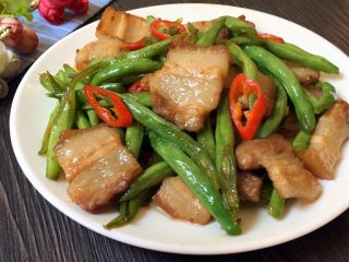 四季豆炒五花肉