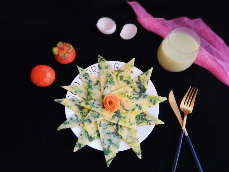 快手早餐~菠菜鸡蛋饼