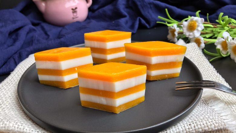 芒果牛奶千层糕