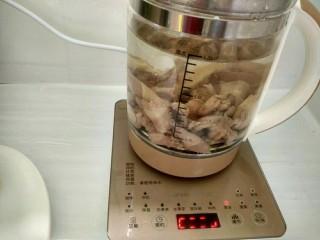 茶树菇鸽子汤,选煲汤功能。