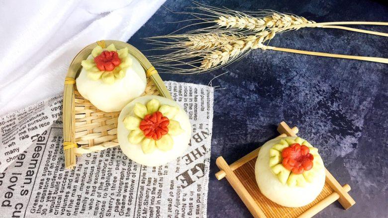 创意花朵豆沙包