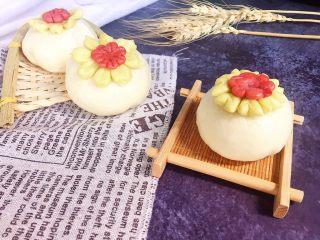 创意花朵豆沙包,头顶一朵花,实则豆沙包!包子也要美美哒!