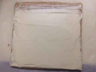 冷萃咖啡蛋糕卷,上端抹薄薄一层便好