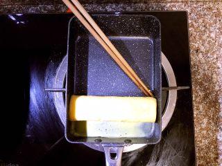 日式厚蛋烧,然后从上往下卷