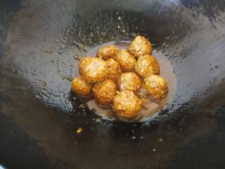 #咸味#莲藕猪肉丸,最后勾薄芡,出锅。