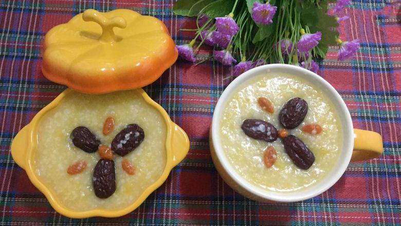 小米南瓜红枣粥,美味又营养的小米南瓜红枣粥,美美哒!