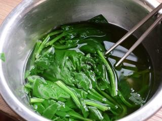 #咸食#果仁菠菜,取出放凉水中