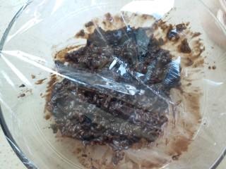 奥利奥米饭,封上保鲜膜放入冰箱中冷藏
