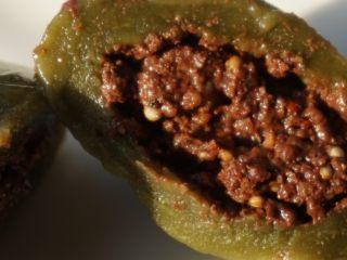 奇亚籽藜麦核桃巧克力青团,咬上一口满满的巧克力味,很好吃。