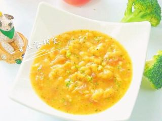 胡萝卜莲藕排骨面线 宝宝辅食西兰花+番茄,番茄是很棒的天然调味剂,番茄和面真的好搭~