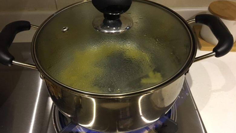 芝士焗意面,然后下锅煮熟,10分钟的样子