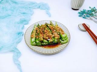 #咸味##养生菜#凉拌秋葵