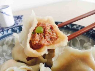 #咸味# 西葫芦羊肉水饺,成品图