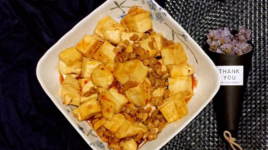吃豆腐+酸辣腐方鸡丁