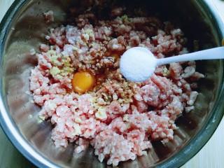 #咸味#紫菜虾皮鲜肉小馄饨,调味,加入盐,十三香,依个人口味。