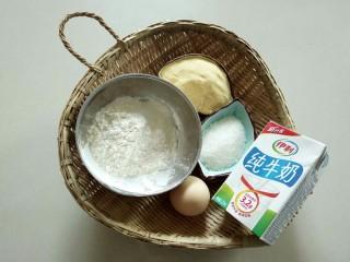 牛奶雞蛋玉米餅,稱重材料