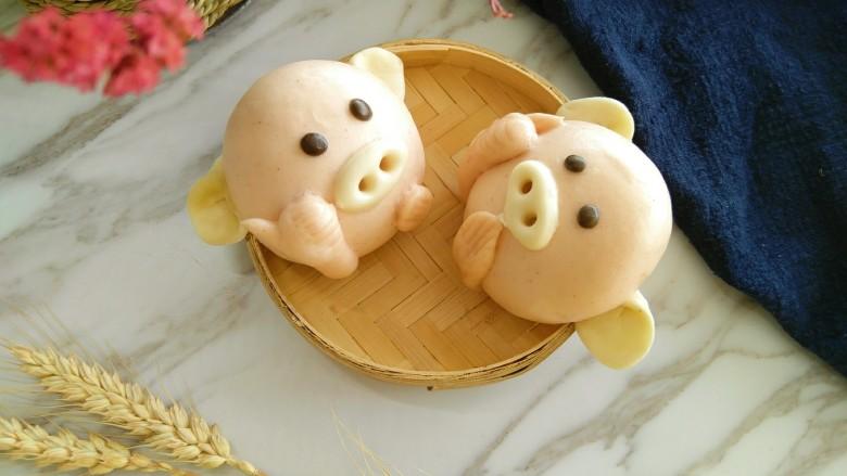 #酸味#为你点赞的小猪花样馒头