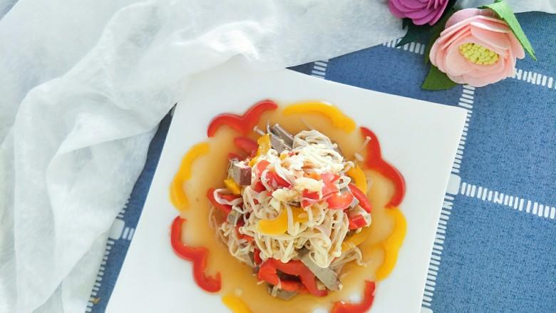#咸味#+猪肝拌金针菇
