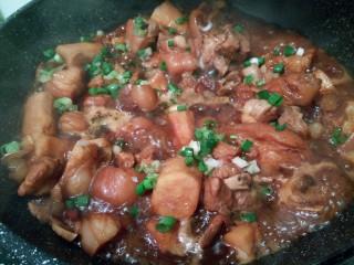 #咸味#红烧猪脚山药,再回锅收汁,放鸡粉,葱花,就可以了