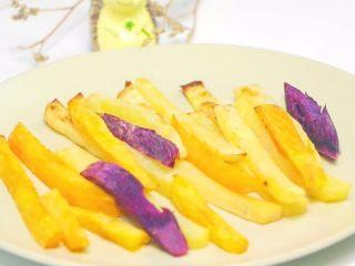 宝宝薯条 宝宝辅食,土豆+紫薯+红薯