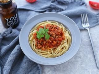 番茄肉酱意面,成品图