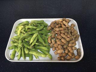 #咸味# 花椒盐水煮毛豆花生,主要食材:毛豆,花生。