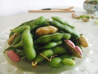 #咸味# 花椒盐水煮毛豆花生,成品图